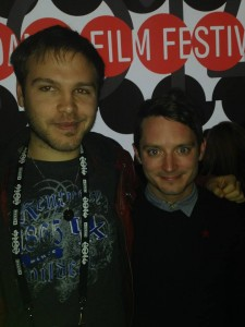 Ben Deckard and Elijah Wood at the Premier of Cooties