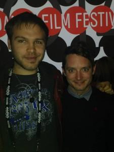 Ben Deckard and Elijah Wood at the Premier of Cooties