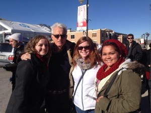 Lendee Sanchez with John  Slattery at Sundance