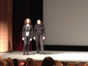 Director Marjane Satrapi at a Q&A after her film THE VOICES
