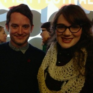 Kaitlin Westbook with Elijah Wood at his film Cooties in Sundance