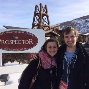 Taylor Harrison and Bradely Englert at the Prospector Theatre at Sundance 2014