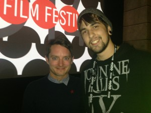 Elijah Wood and Tyler McDowell at the Premier of Cooties at 2014 Sundance