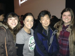 Nicole and classmates with Ken Jeong after watching Advantageous