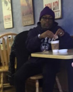 Ben found Spike Lee at a coffee shop!