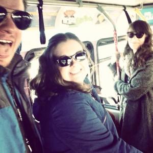 Alex Slocum on Sundance Bus