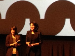 Director Desiree Akhavan and her producer at Q&A after their film APPROPRIATE BEHAVIOR