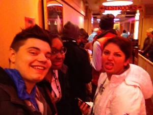 Maggie, Leigh, and Ryan waiting to see Memphis