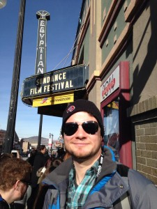 Wes at the Egyptian Theatre at Sundance
