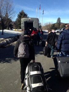WKU class headed toward bus to go home