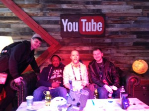 Ryan Duvall, Nathan Gjerstad and Ted Hovet at the YouTube lodge