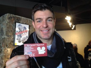 Jeff Shroeder from Big Brother with Ryan Duvall's Company Card