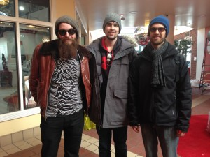Michael Nowlen, Tyler McDowell, and Caleb Peyman at the Sundance box office