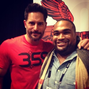 Coleman Martin with  Joe Manganiell after his film premiered at Slamdance.