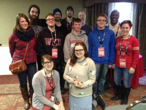 Dakota Bragdon with WKU Class after a Film Crashing 101 session with Dr. Eric Pierson of USD