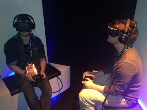 Nathan at Oculus Rift Virtual Reality Glasses at New Frontier in Sundance