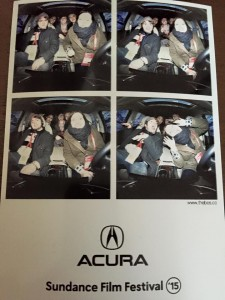 Rebecca and Classmates at Acura Photo Booth having a blast!