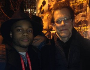 Michael with Kevin Bacon